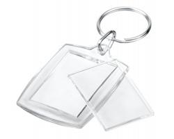 Plastový přívěsek na klíče PICTURE pro fotografii - transparentní