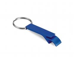 Kovový přívěsek na klíče otvírák na lahve ALU - modrá