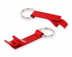 Kovový přívěsek na klíče otvírák na lahve ALU - červená