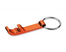 Kovový přívěsek na klíče otvírák na lahve ALU - oranžová