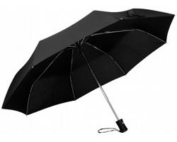 Skládací deštník Santini DIMA s obalem - černá
