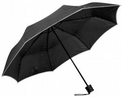 Skládací deštník RELLA s pouzdrem - světle šedá