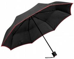 Skládací deštník RELLA s pouzdrem - červená