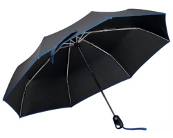 Skládací deštník DRIZZLE s pouzdrem - královská modrá