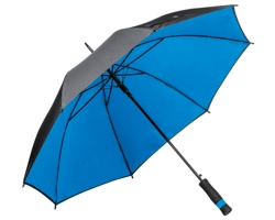 Polyesterový vystřelovací deštník UMBRIEL s dvojitým potahem - modrá
