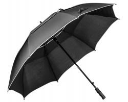 Automatický golfový deštník NATE s dvojitým vrchlíkem - černá