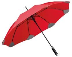 Značkový polyesterový vystřelovací deštník Santini PULA, 8 panelů - červená