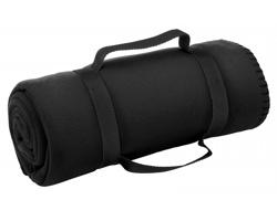 Cestovní deka FIT s popruhem - černá