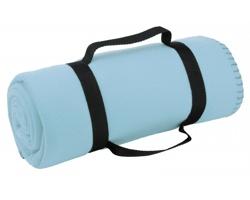 Cestovní deka FIT s popruhem - vodově modrá