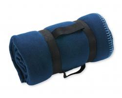 Cestovní deka FIT s popruhem - modrá