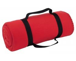 Cestovní deka FIT s popruhem - červená