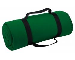 Cestovní deka FIT s popruhem - tmavě zelená