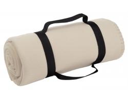 Cestovní deka FIT s popruhem - béžová