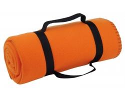 Cestovní deka FIT s popruhem - oranžová