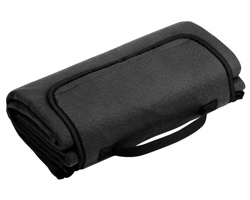 Skládací fleecová cestovní deka na piknik PAT - černá