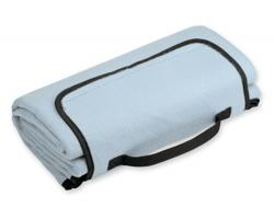 Skládací fleecová cestovní deka na piknik PAT - vodově modrá