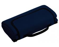Skládací fleecová cestovní deka na piknik PAT - modrá