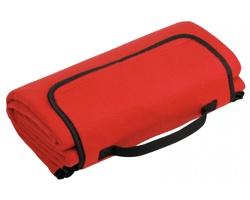 Skládací fleecová cestovní deka na piknik PAT - červená