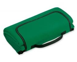 Skládací fleecová cestovní deka na piknik PAT - zelená