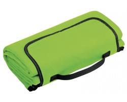 Skládací fleecová cestovní deka na piknik PAT - světle zelená