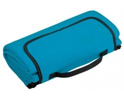 Skládací fleecová cestovní deka na piknik PAT - tyrkysová