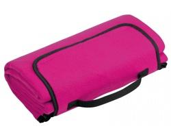 Skládací fleecová cestovní deka na piknik PAT - fuchsiová