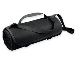 Fleecová cestovní deka FLEECE s voděodolnou úpravou - černá