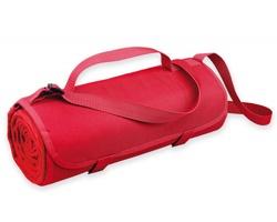 Fleecová cestovní deka FLEECE s voděodolnou úpravou - červená