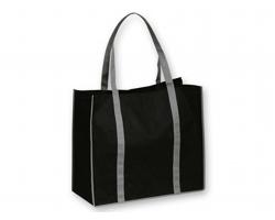 Netkaná nákupní taška VITELA - černá