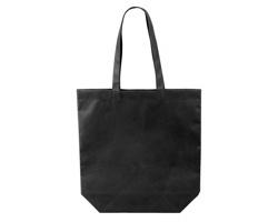 Netkaná nákupní taška TANAH - černá