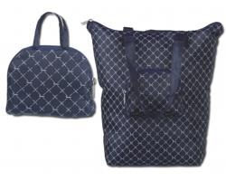 Skládací taška přes rameno Santini EMPORIA - modrá