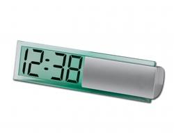 Stolní hodiny ICY s digitálním displejem - saténově stříbrná