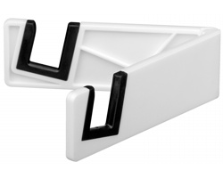 Plastový držák na mobil a tablet RAILY - bílá