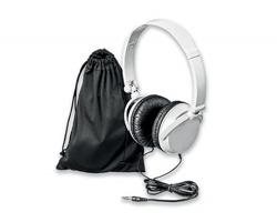 Plastová audio sluchátka s jack konektorem PULSE - bílá