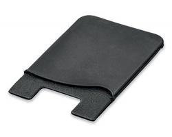 Silikonová samolepicí peněženka na mobilní telefon WASIL - černá