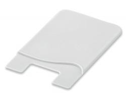 Silikonová samolepicí peněženka na mobilní telefon WASIL - bílá
