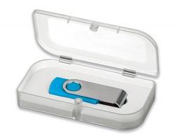 Plastová krabička na USB flash disk USB BOX I s uzavíráním na magnet - transparentní