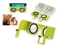Plastové virtuální brýle OCULARS v cestovním pouzdře - světle zelená
