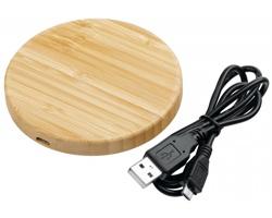 Dřevěná bezdrátová nabíječka WOODER s technologií Qi - přírodní