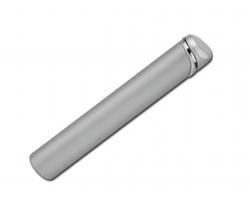 Kovový plnitelný piezo zapalovač BALDWIN - saténově stříbrná