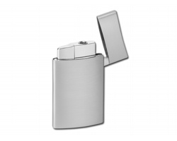 Kovový piezo zapalovač FERN - stříbrná