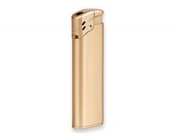 Plastový plnitelný piezo zapalovač BLAZE - saténově zlatá