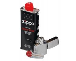 Značková dárková sada pro kuřáky ZIPPO BRUSH SET - modrý melír