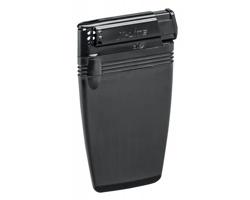 Plastový placatý zapalovač FLATEN pro jednorázové použití - černá
