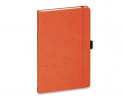 Poznámkový blok LANYO I s gumičkou - oranžová
