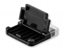 Stojánek na mobil MOBI s čističem na displej - černá
