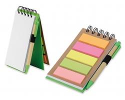 Ekologický zápisník ALF s lepicími papírky a perem - světle zelená