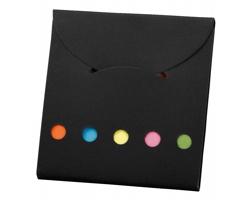 Barevné lepicí papírky DEVITO v papírových deskách - černá