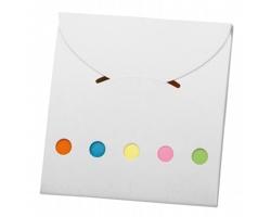 Barevné lepicí papírky DEVITO v papírových deskách - bílá