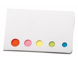 Barevné lepicí papírky MAGDA v papírových deskách - bílá